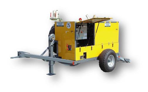 - 每个张力轮由独立完整的液压减速机液压马达 和常闭式剎车装置组成, 全封闭式仅需最少量 维护 - 自动启动的紧急停止系统 - 与放线数量匹配的液压回路用于驱动液压尾架 - 高效率自动冷却系统 - 高质量控制技术即使在最高负荷仍能吋动控制 - 特殊液压油管接头不漏油使用寿命长